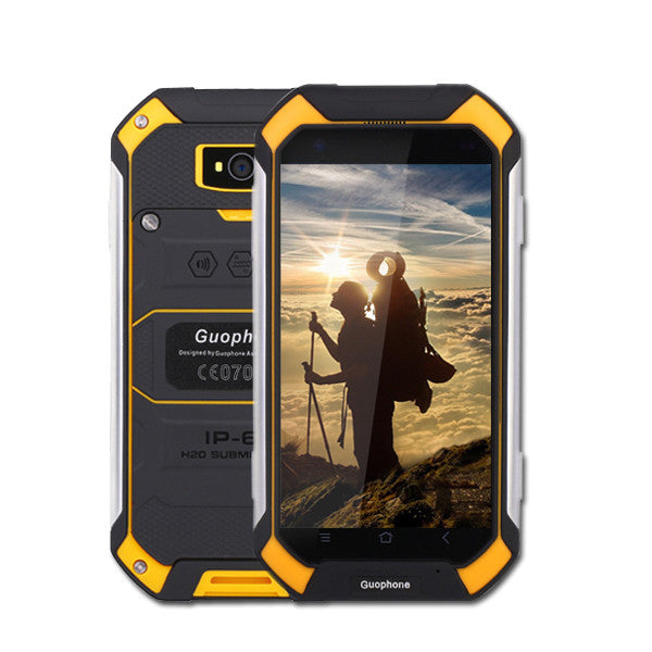 "4.5"" GuoPhone V19 Phone With IP68 MTK6580 Android 6.0 3G GPS 2GBRAM 16GBROM 4.5 Inch Screen Shockproof Waterproof SmartPhone  dailytechstudios- upcube"