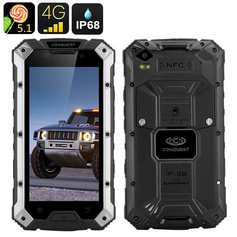 "3GB RAM 32GB ROM Android ip68 Rugged Waterproof Phone 6000mAH Original S6 MTK6735 Quad Core 5"" Phone CAT B15 4G LTE Fingerprint  dailytechstudios- upcube"
