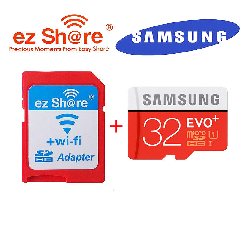 100% original EZ share ezshare Wireless wifi adapter+Samsung EVO plus 32gb class10 80MB/s micro sd card wifi wireless TF Card  dailytechstudios- upcube