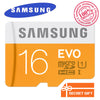 100% Original Genuine Samsung EVO micro SD SDHC SDXC TF Class 10  microsd 16GB 32GB up to 48mb/s Support Official Verification  dailytechstudios- upcube