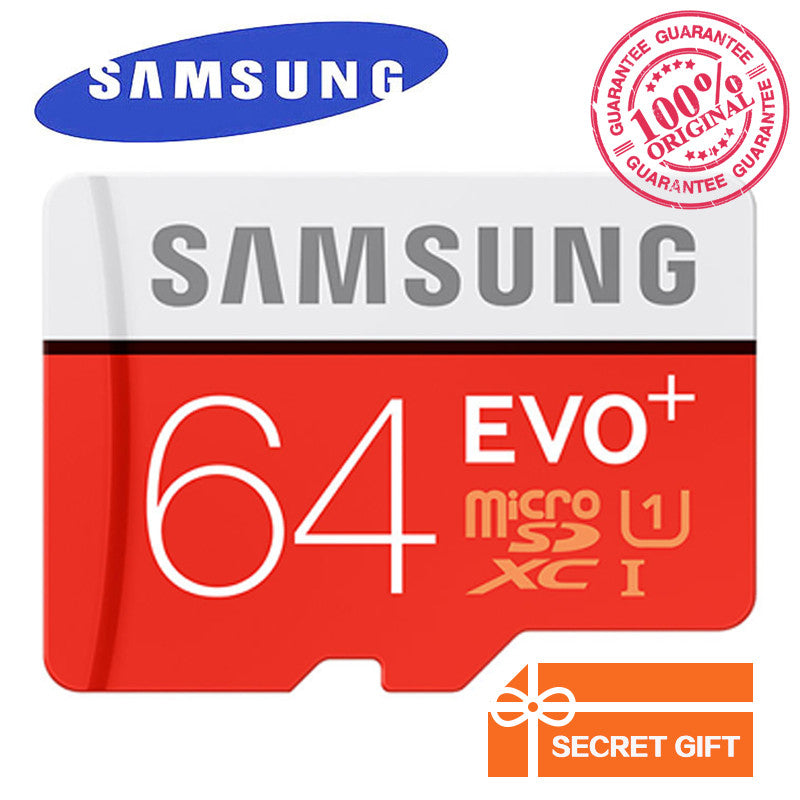 100% Original Genuine Samsung EVO+ EVO Plus 64GB Class10 Micro SD Card 80MB/S UHS-1 Flash Memory MicroSD TF Card  dailytechstudios- upcube
