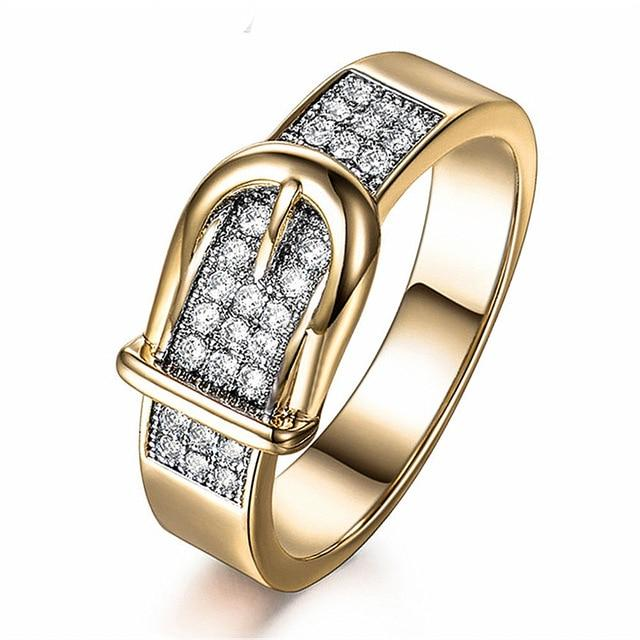 Shining Belt Rings for Women Tiny CZ Paved Cubic Zirconia Stone