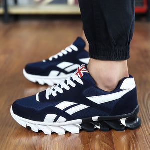 2016 Men's Fashion Air Cushion Casual Shoes Men Lace-up Red Blue Spring Autumn Walking Jogging Shoes Mens Trainers
