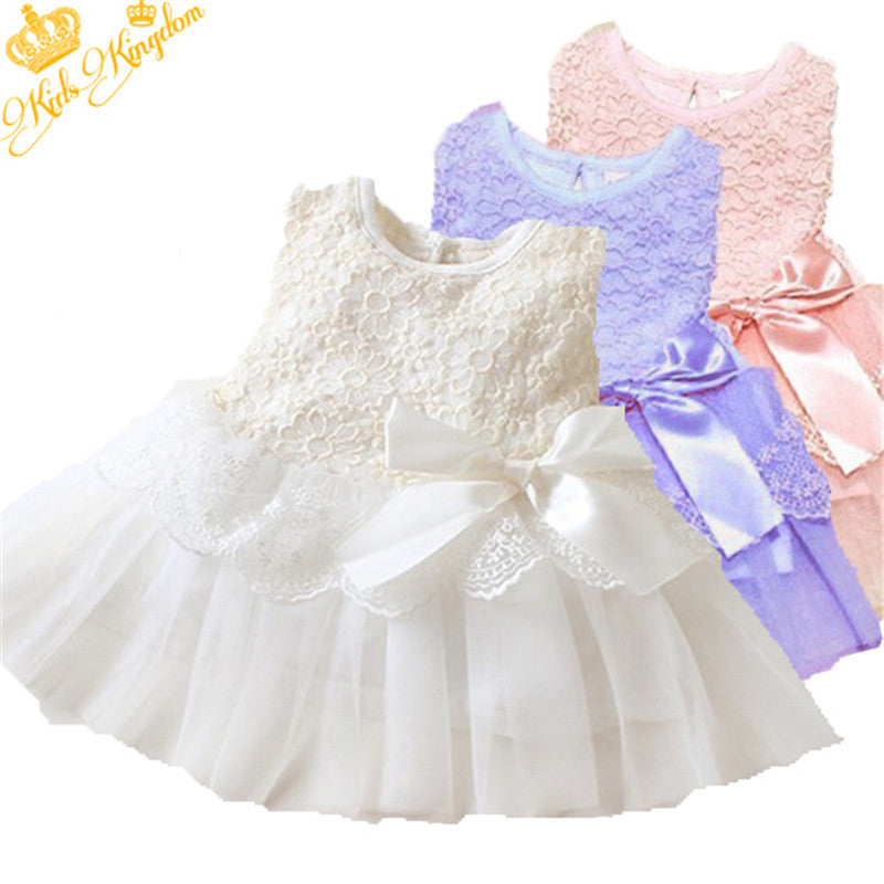 Fashion Summer Spring Toddler Girls Baby Kids Bebe Dress Princess Party  Cute Newborn Wedding Big Bow a917818821b2