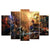 (Unframed) 5 Pieces One Set Figure Bedroom Painting Wall Art Home Decoration Canvas Paintings For Living Room