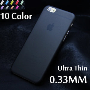 1pcs Matte Transparent Ultra-thin 0.3mm Back Case For iPhone 7 plus 4 4S 5 5S 5c SE 6 6s plus PC Protective Cover Skin Shell
