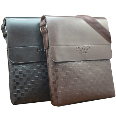 New 2016 fashion men bags, polo videng men casual leather squares messenger bag,high quality man brand small crossbody bag