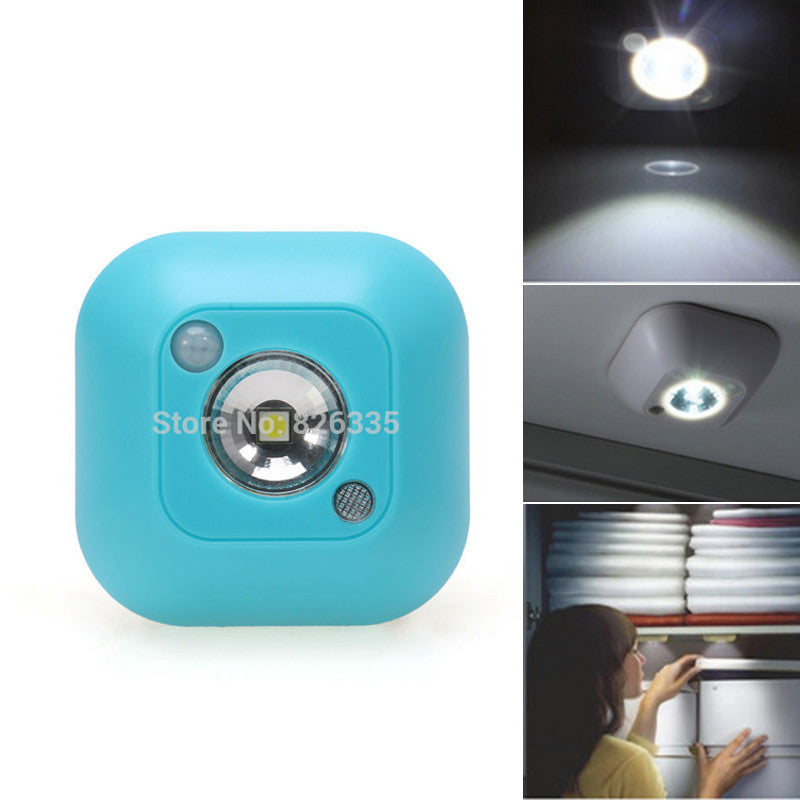 Mini LED Wireless Night Light  Motion Activated Sensor Lights Battery Powered Wall Emergency Night Lamp On Sale