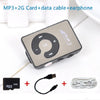 2015 Mini Clip Portable MP3 Music Media Player with 2GB Micro SD/TF+USB data line+earphone sport mp3 player walkman lettore mp3  dailytechstudios- upcube