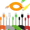 1M/2M/3M Fabric Nylon Braided Micro USB Cable Charger Data Sync USB Cord Wire For Samsung Galaxy Xiaomi HTC 8 Colors Available  dailytechstudios- upcube
