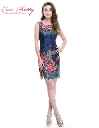Fashion Short Sleeveless Design Women Cocktail dress Ever Pretty AS05442NB Above Knee Length Cocktail Party Dresses