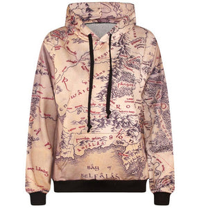 2016 3d sweatshirts men hip hop hooded hoodies funny print maps hoody casual lovely tracksuits with pocket