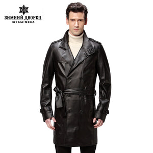 Best Seller leather jacket,Genuine Leather,Mandarin Collar,Sheepskin,Coat male,Leather jacket men,mens leather jackets and coats