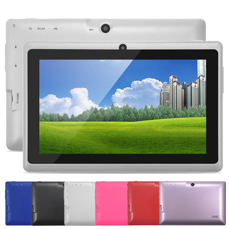 5 Colors 8GB Q88 7 inch Tablet PC Allwinner A33 Quad-Core 512MB/8GB 1024 x 600 Dual Camera WIFI 2800mAh tablet with bluetooth  dailytechstudios- upcube