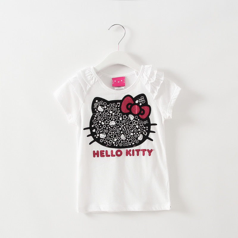 2016 kids girl clothes t-shirt whosale baby choses cotton kitty girl tops china cheap names top 100 children t shirts xst003 1ps  dailytechstudios- upcube