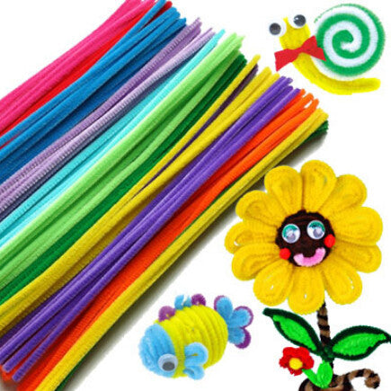 50pcs/set Plush Stick & Shilly-Stick Children's Educational Toys Handmade Art DIY Materials and Craft Materials Free Shipping