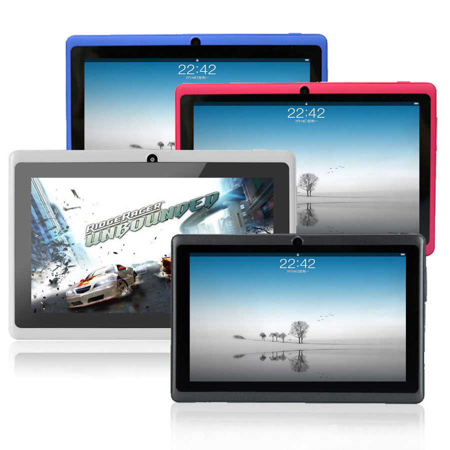 7 inch Android tablet pc Allwinner A33 DDR3 512MB ROM 8GB, Wifi Quad core, dual Camera Muti touch FM  with Bluetooth  dailytechstudios- upcube