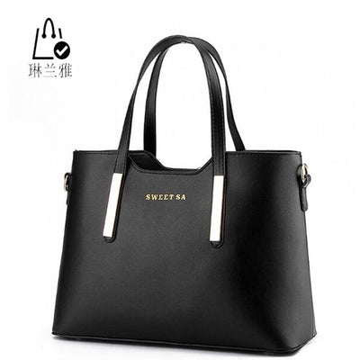 LINLANYA Fashion Female Package Elegant Women Handbag High Quality Leather Shoulder bag All-Match Messenger Bag Casual Tote