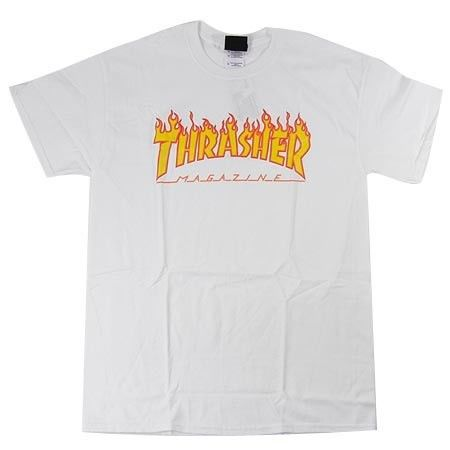Thrasher Flame SS Shirt White Large