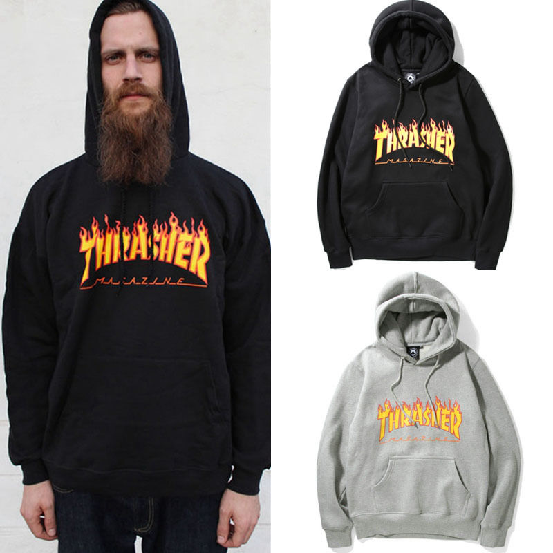 Fashion Men's hoodie sweaters Hip-hop skateboard Thrasher Women Sweatshirts