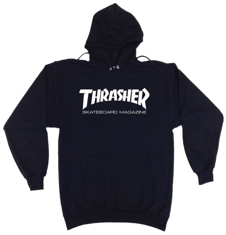 Thrasher Skateboarding Magazine Logo Hoodie Sweatshirt Custom Skater Gear Hip In
