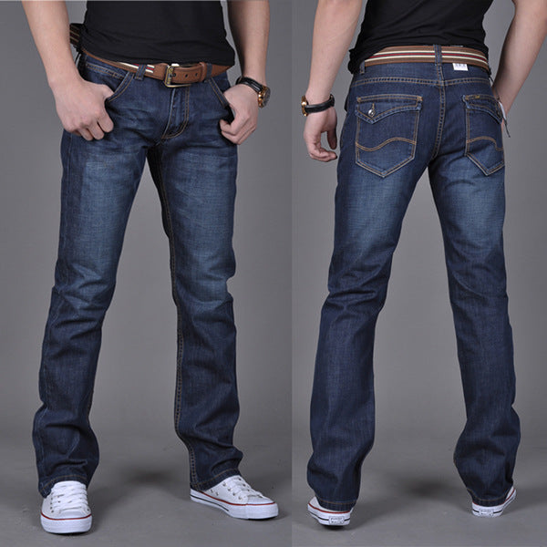 Spring Autumn Men Fashion Straight Jeans Young Men Boy Casual Handsome