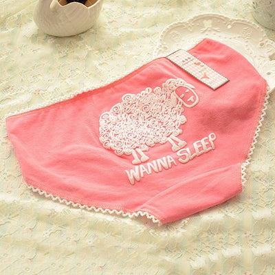 13 Color Underwear Women Cartoon Briefs Girl Cute Cotton Comfort Underpants Candy Color Women Panties G-Strings, Thongs & Tangas hi ,See You Again :)- upcube