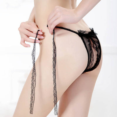 4 Colors Sexy Women Girls Underwear Handmade Open Sheer Bandage G-string Thongs G-Strings, Thongs & Tangas YRD- upcube