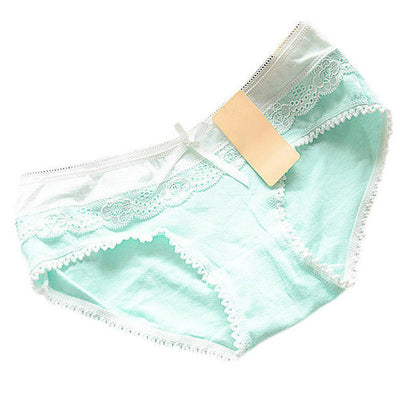 2017 Hot Now Lovely Women's Multi-Colors Cotton Soft Lace Bow-knot Briefs Underwear Knickers 12 Color Nightgowns & Sleepshirts Mom & Ped Store- upcube