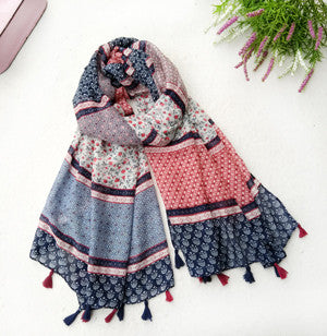 1PC 2017Spring New Design Acrylic Cotton Fashion Women Long Tassels Scarf Woman New Flower Viscose Tassels Shawls Pashminas Scarves EXQUISITE TXYGAT Xuanying Scarf Store- upcube