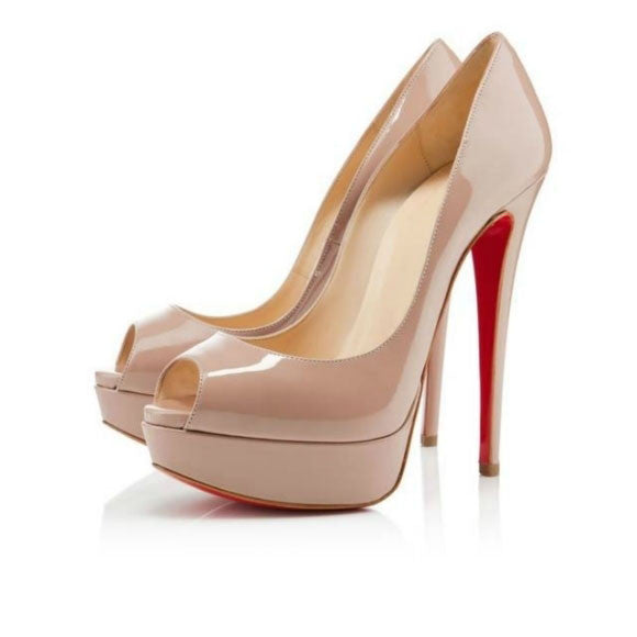 Brand Platform Shoes Woman Peep Toe 14CM High Heels Pumps Sexy Nude Women  Shoes High Heels e34753bfc689