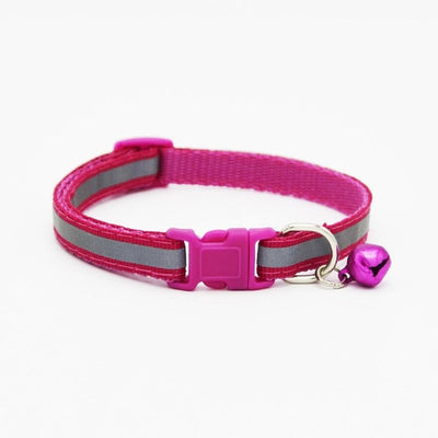 1.0cm/1.5cm Width Small Dogs Cat Collar Puppy Nylon Reflective Pet Dog Collar Necklace with Bell For Dog Supplies - upcube