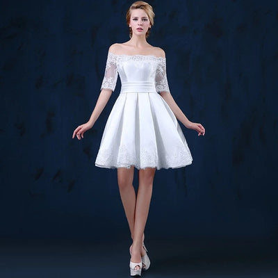 SOCCI girls White Customized Lace Cocktail Dresses Lady Short Prom Dress  Formal Banquet Wedding Party Gowns b2d9b3b1db5f