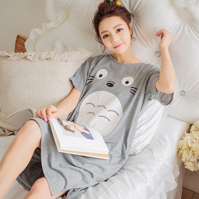 2017 Summer 100% Cotton Women Printed Nightgown Female Casual Outwear Lady Pockets Sleepshirt Girl Pijama Home Clothing Size 3XL Nightgowns & Sleepshirts Future Online Store- upcube