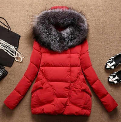 1PC 2017 Winter Jacket Women Fur Hood Cotton Padded Coat Parkas For Women Winter Abrigos Mujer Jaqueta Feminina Q002 Parkas Shop1180483 Store- upcube