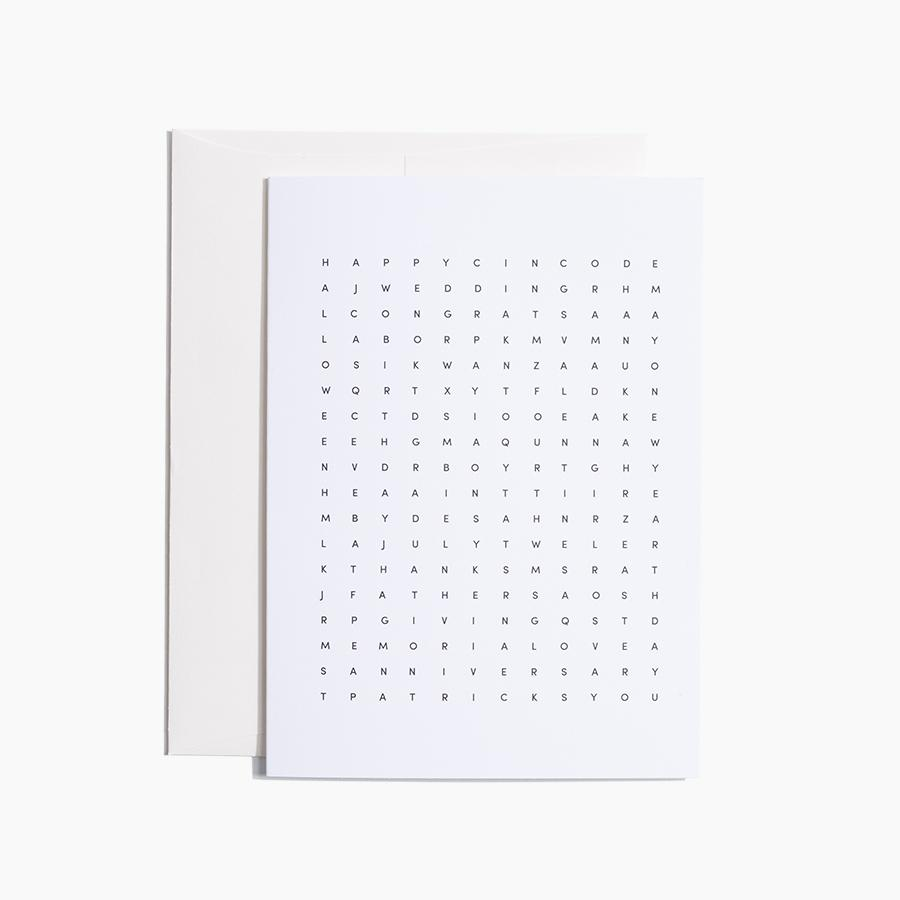 #10551 Word Search Card - upcube