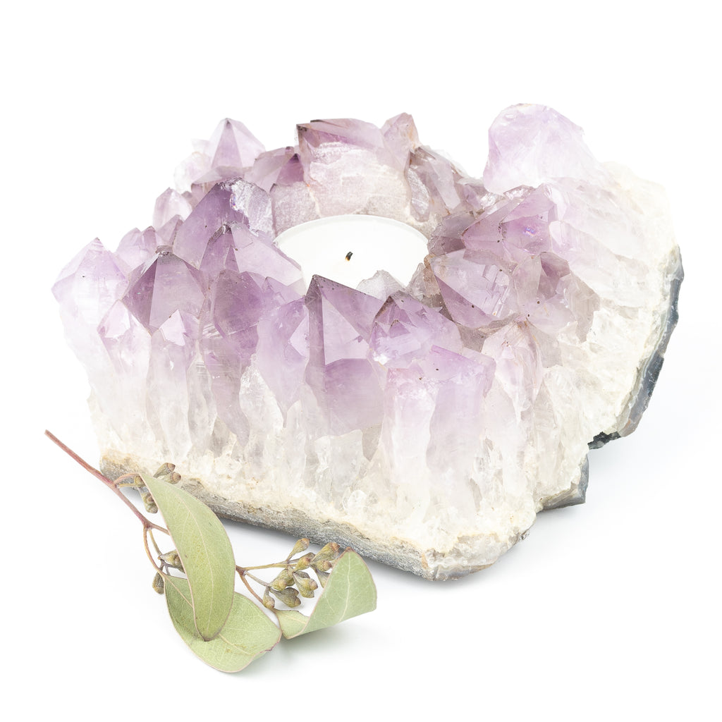 Amethyst Candle Holder #4
