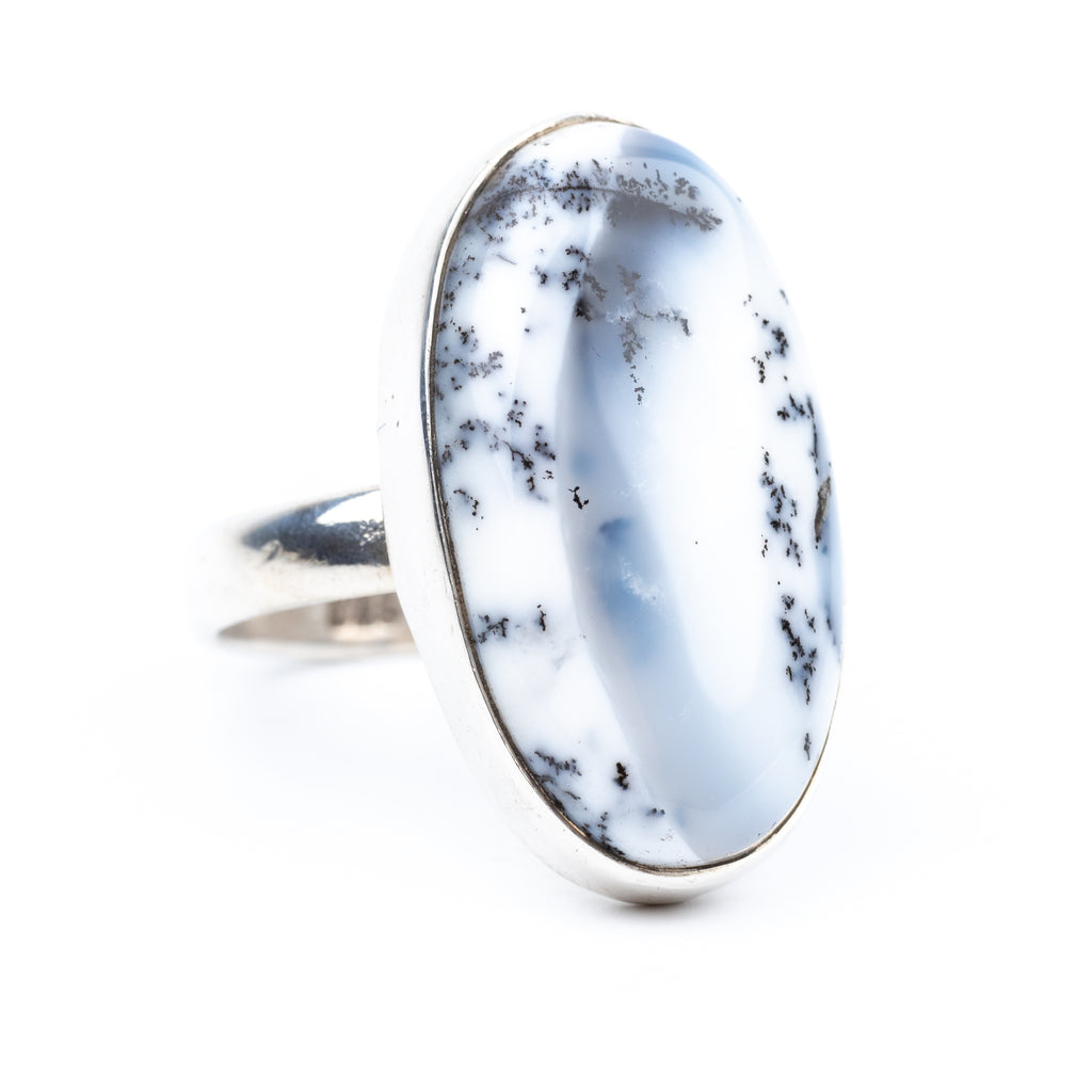 Dendritic Agate Ring Size 6