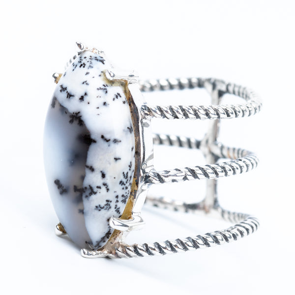 Dendritic Agate Ring Size 6.5