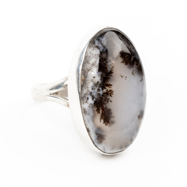 Dendritic Agate Ring Size 7.75