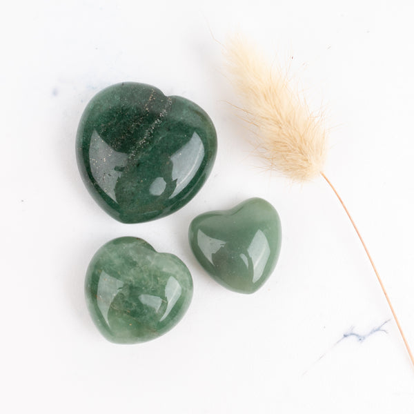 Green Aventurine Companion Hearts