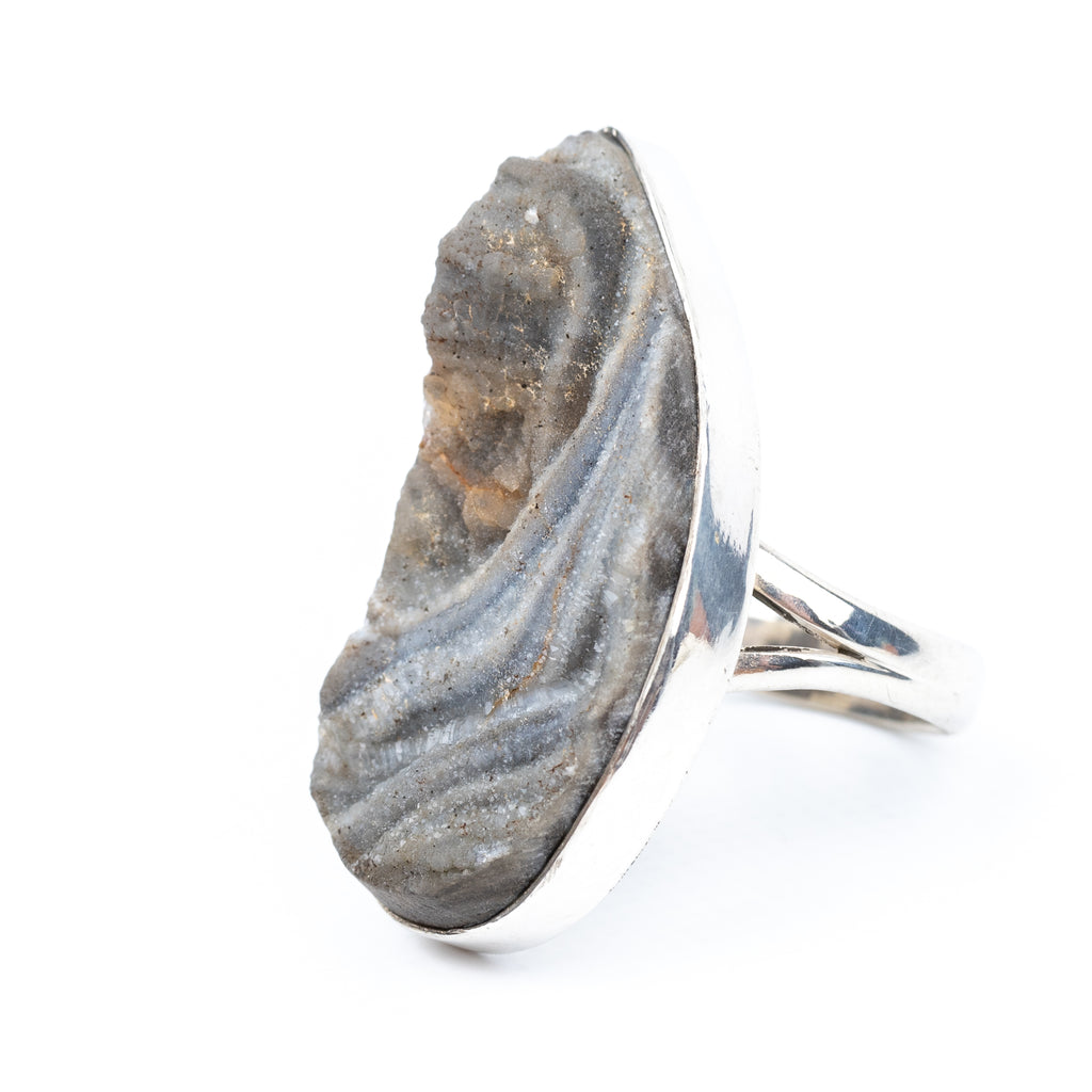 Druzy Agate Ring Size 6 #1