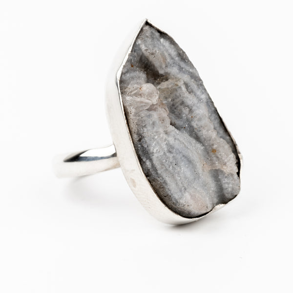 Druzy Agate Ring Size 8 #1