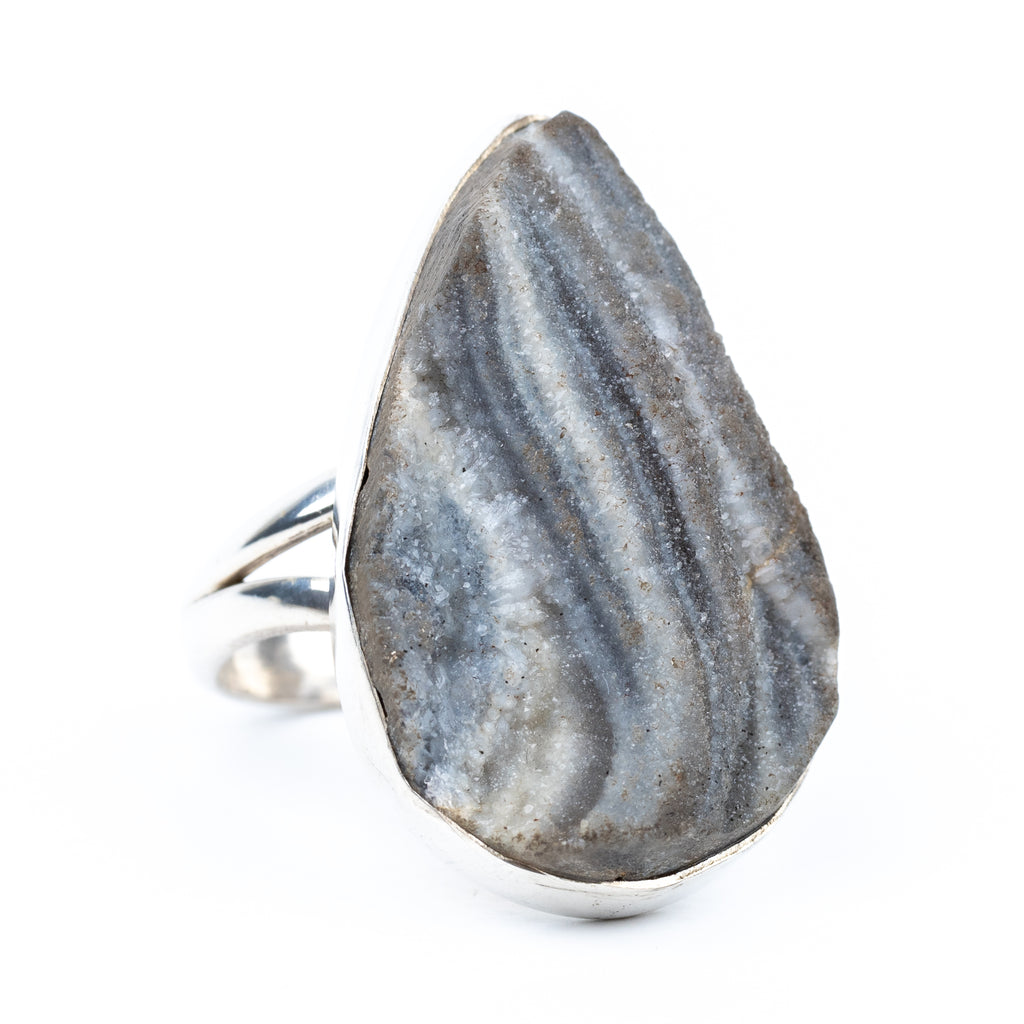 Druzy Agate Ring Size 5.5