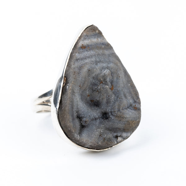 Druzy Agate Ring Size 9.5