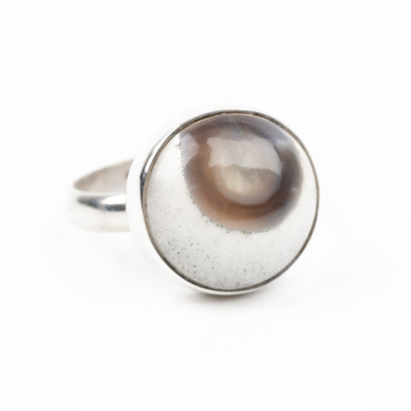Eye Agate Ring Size 6