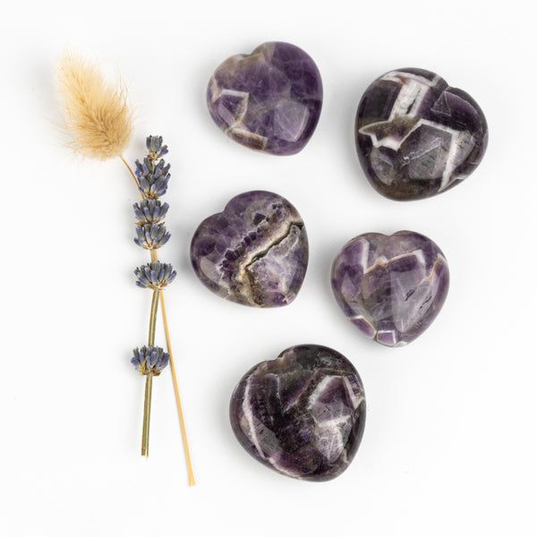 Chevron Amethyst Companion Hearts