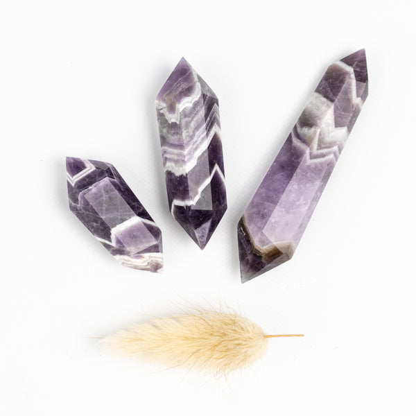 Chevron Amethyst Double Terminated Points
