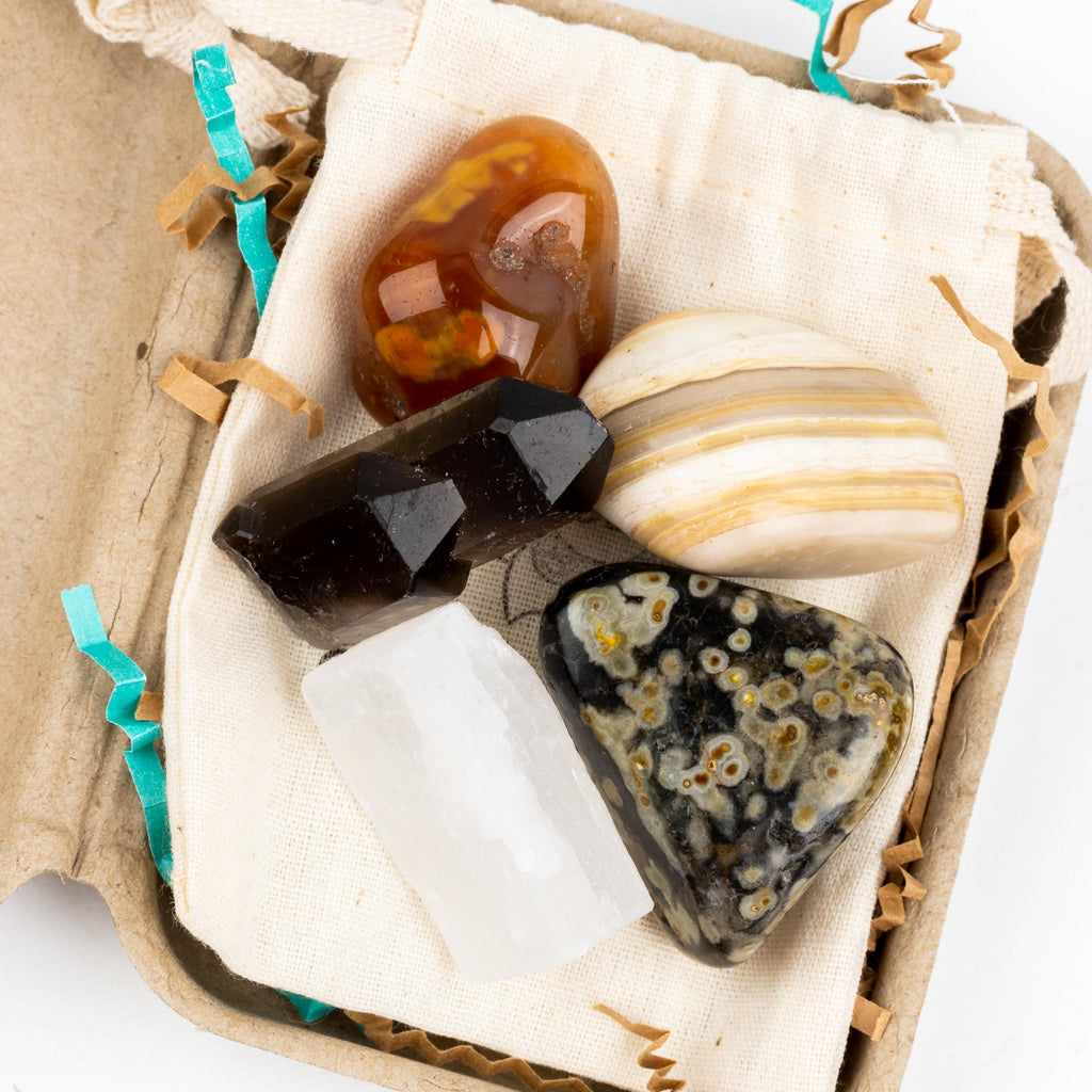 Confidence & Positivity Crystal Intention Pouch