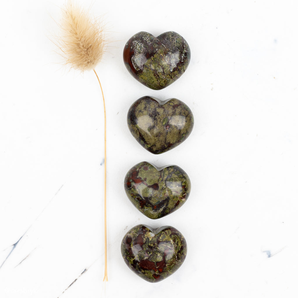 Dragon Blood Jasper Companion Hearts